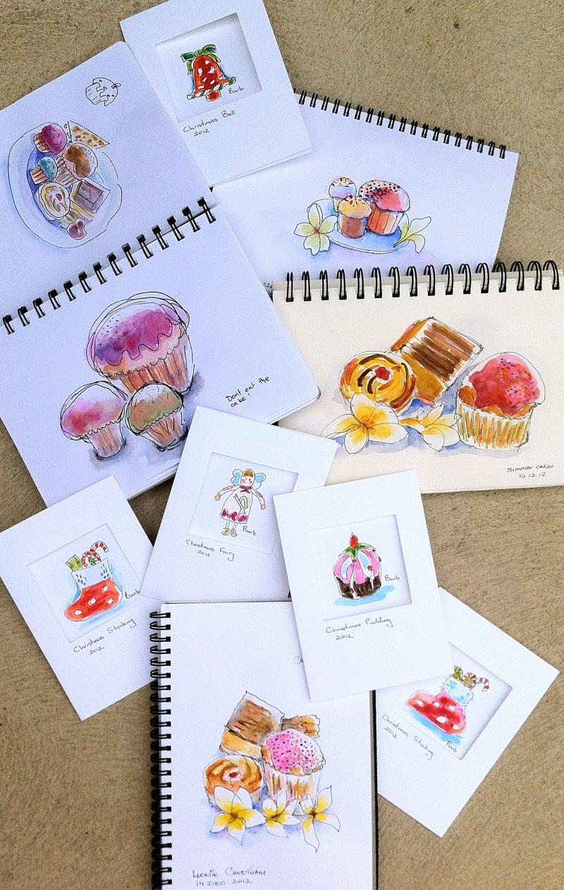 Fri Dec 14 '12.  Squishy cakes and Christmas cards