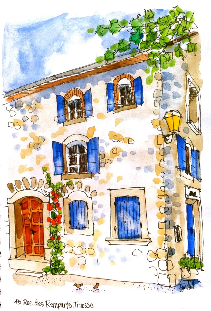 House on the Square, trausse, France
