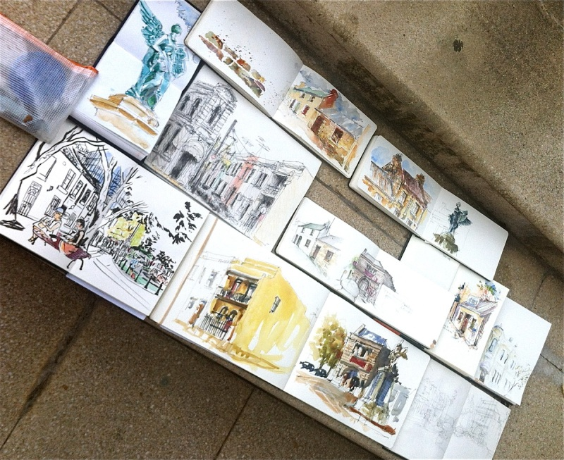 10 Urban Sketchers do Union Sq Pyrmont