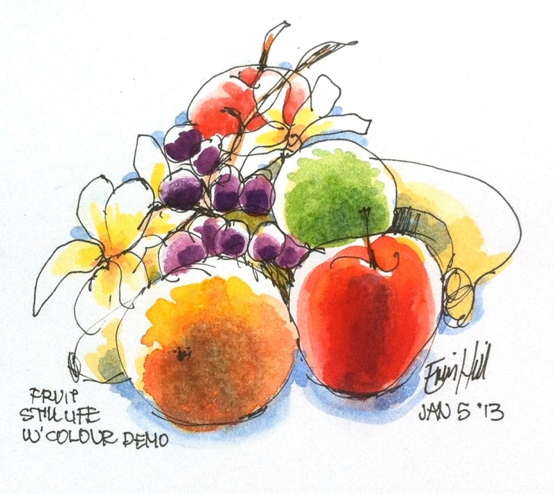 Fruit Still life demo