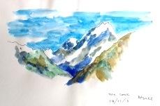 Atsuko.  Mt Cook, Southern Alps. NZ