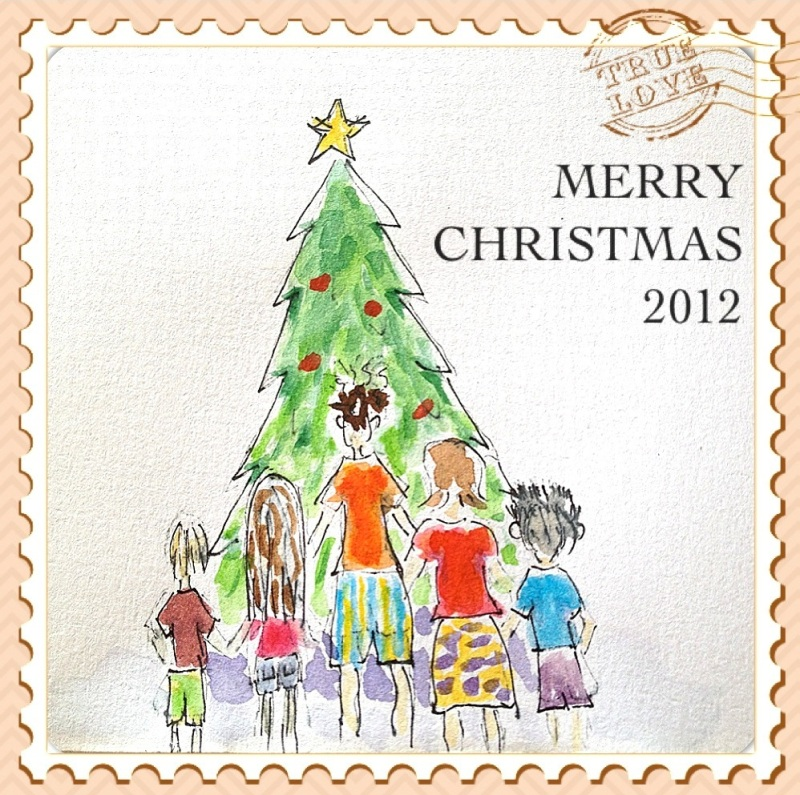 Toni. Her personal Christmas design for family card