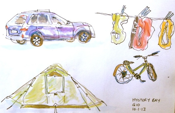 Toni. Family & Friends Camping Sketches