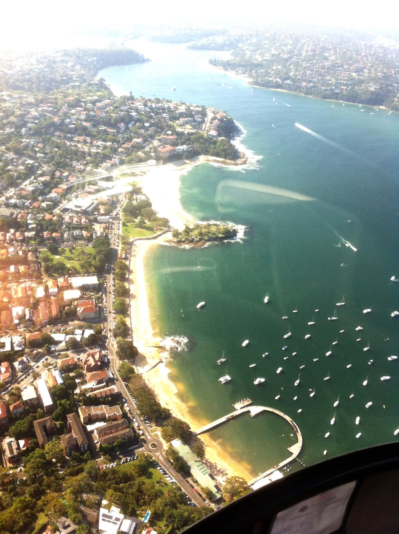 Flying over Balmoral Beach