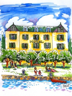 Hotel Les Oeillets, of The Greengage Summer