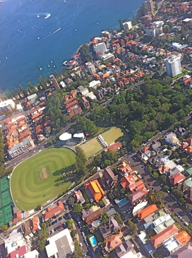 Swooping over Ivanhoe Park and the Studio