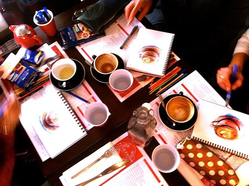 Cafe au lait sketching