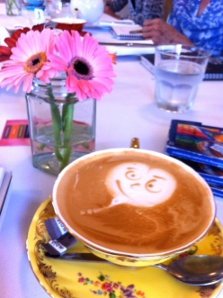 Cheeky coffee at Boronia Tea Room