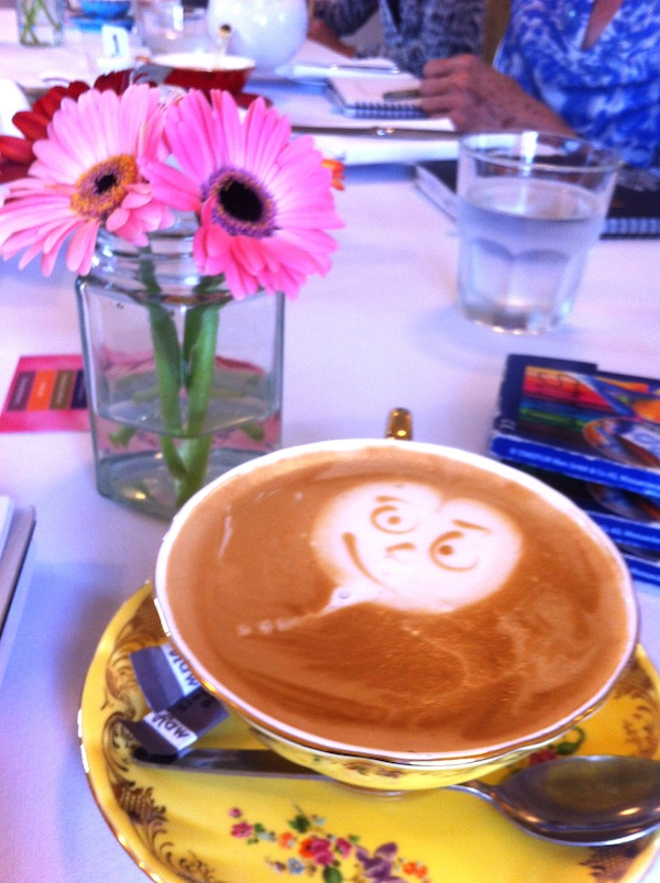 Cheeky coffee at Boronia Tea Room