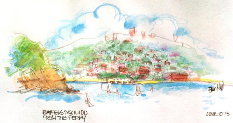A glimpse of Balmoral Beach