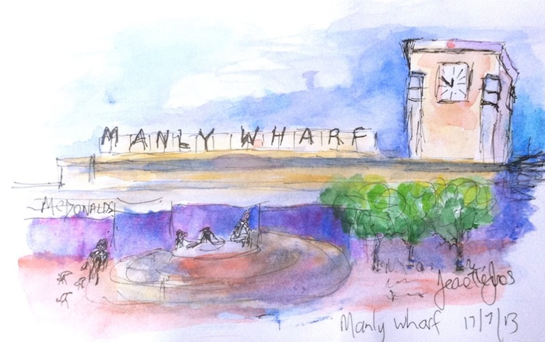 Manly Wharf by Jeanette J.