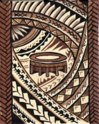 Kava bowl decorative panel