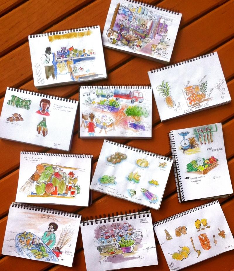 Market sketches
