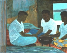 Ray Crook painting. The Kava Ceremony