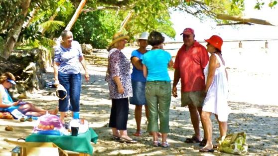 Arthur, Martha, & Jacquie beach visit.
