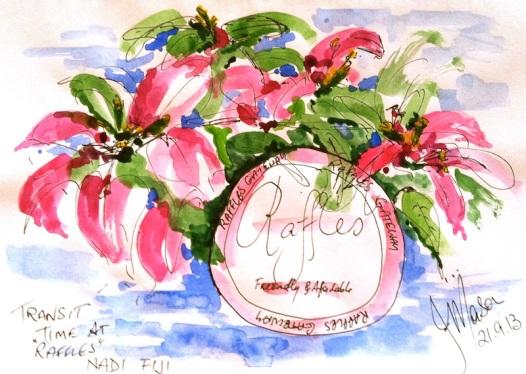 Cafe sketch at Raffles Jenny M