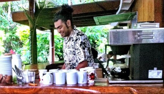 Carlo doing coffee