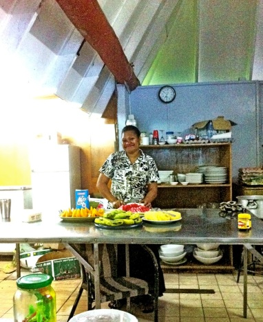 Dee in the kitchen