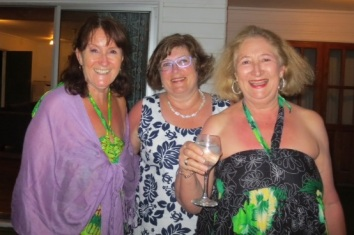 Jacquie, Therese and Jan in new dresses