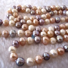 Pastel coloured pearls