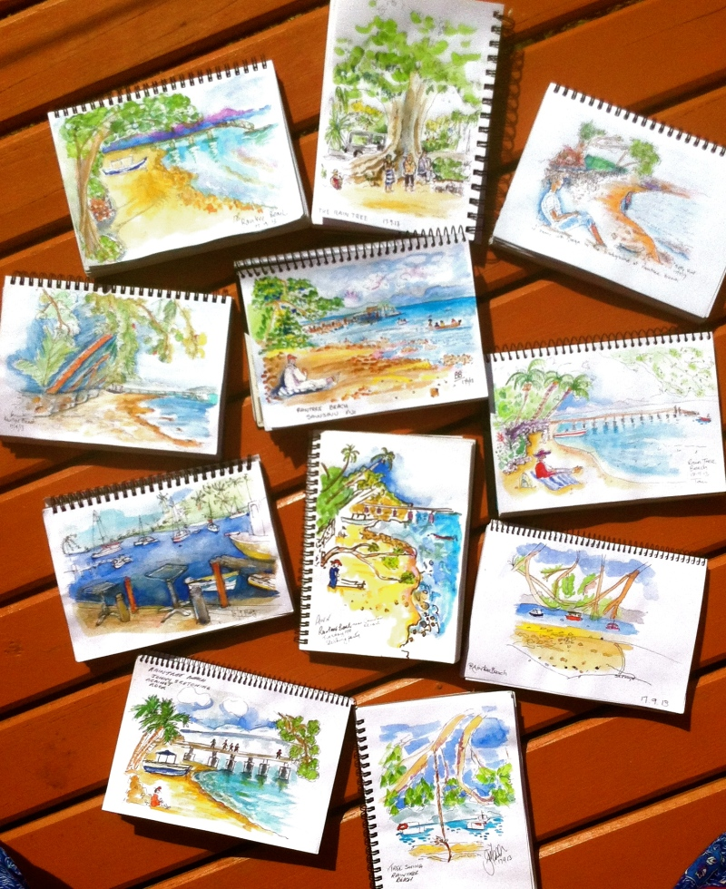 Raintree Beach sketches