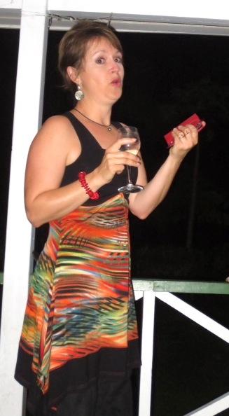 Toni makes her speech