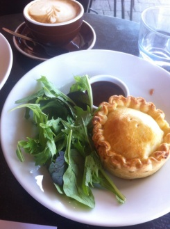 Little Pie and coffee. Napier NZ