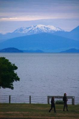 Mt Tongariro across Lake Taupo