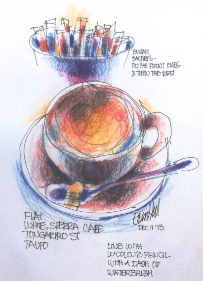Taupo coffee demo sketch