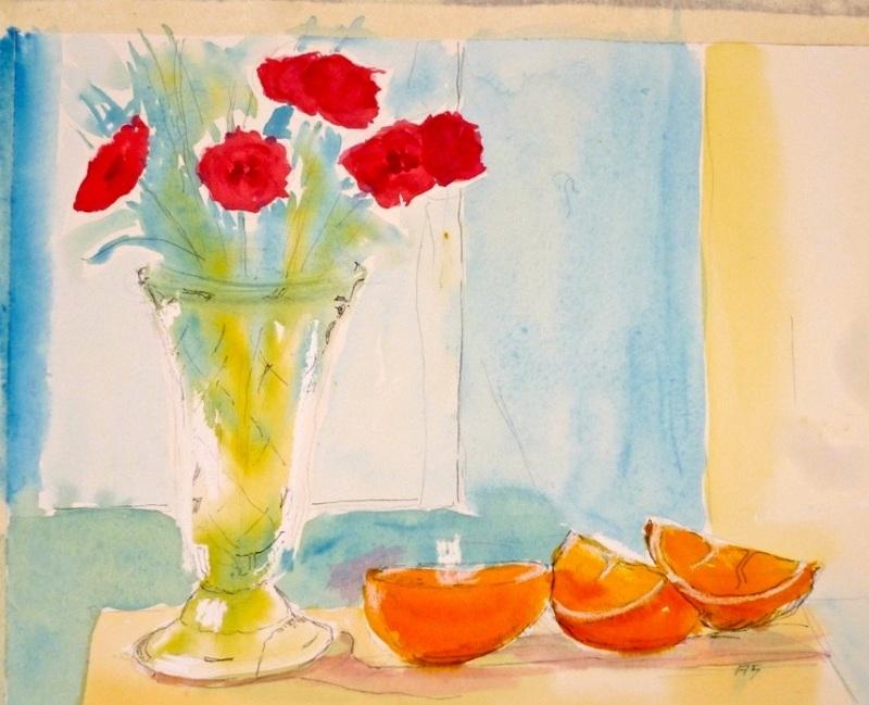 Anne Sands. Watercolour sketch.