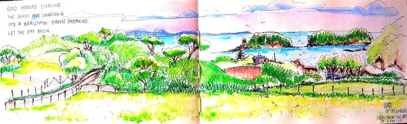 Christy.6am Vista across the Bay.NZ.