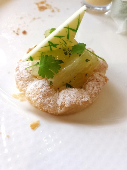 Coconut dacquoise with lemon and curd …. and more.
