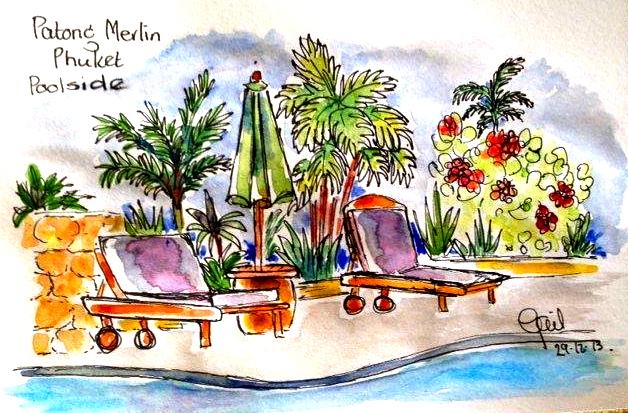 Gail. Poolside Patong Merlin. Phuket