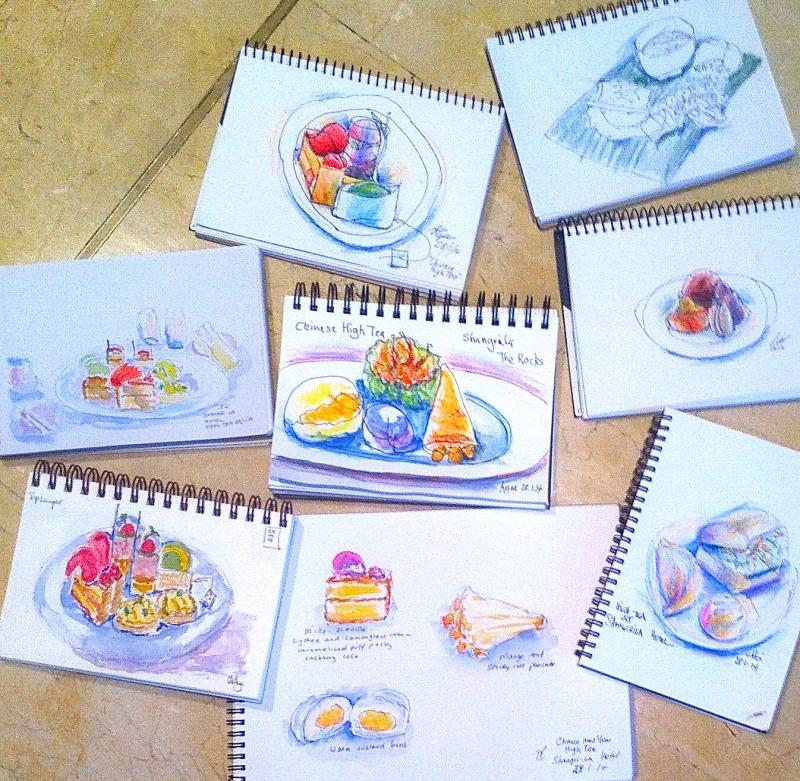Very edible High Tea Sketches