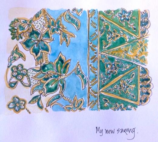 Judy Salleh. Sarong pattern Jan 21 '14