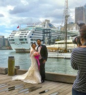 Wedding pics harbourside
