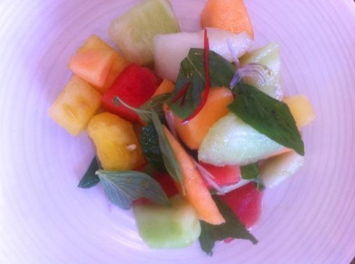 Melon with citrus & chilli