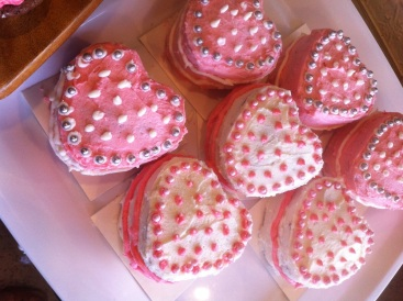 Pink hearts. St Remy Baked
