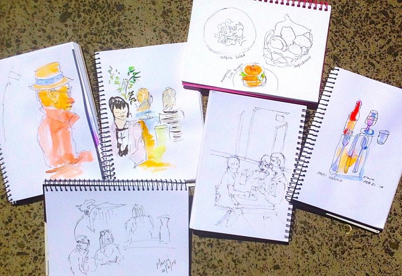 Restaurant Sketches.