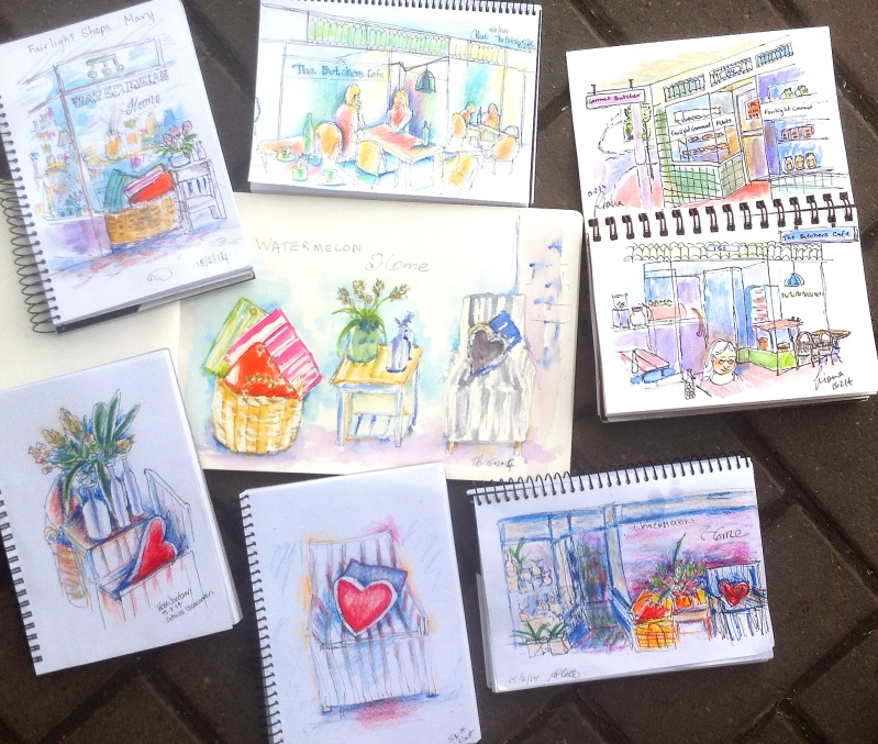 The Butchers Cafe & homewares sketches