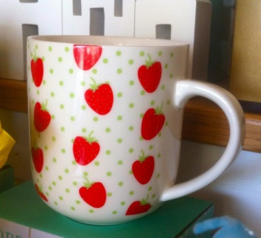 Valentine strawberry mug.