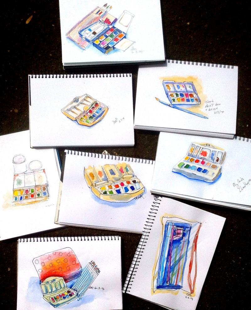Thursday 2 Paint sets.