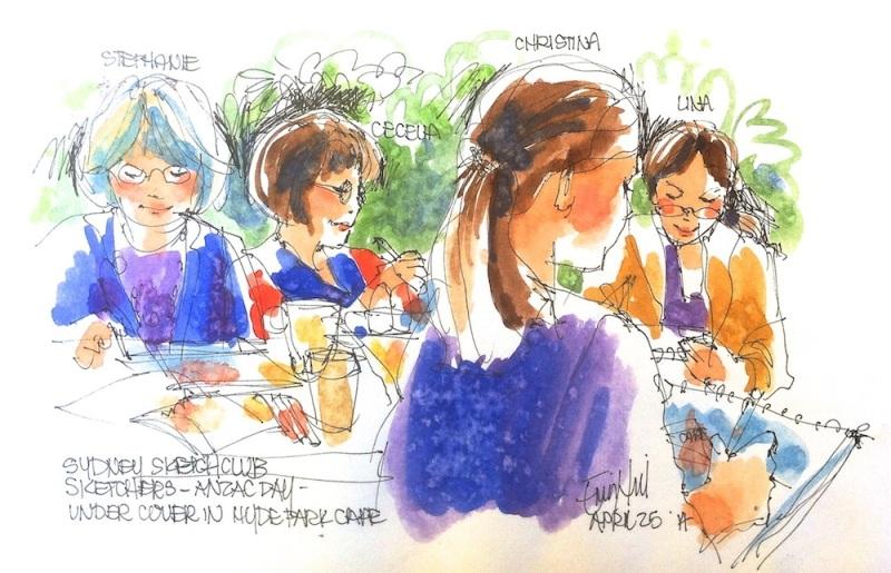 Sydney sketch club sketchers