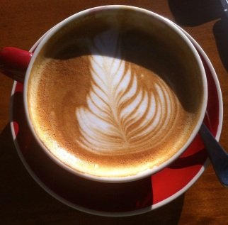 An excellent latte