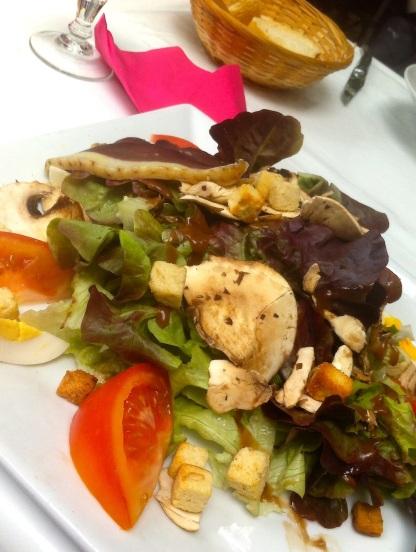 Champignon Salade Les Terrasses Restaurant Old Cite