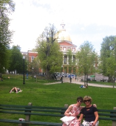 Checking out Boston