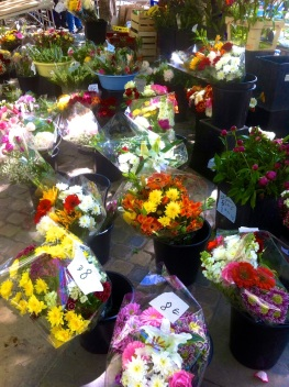 Flowers at Carcassonne Market