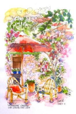 My La Bergerie Garden sketch
