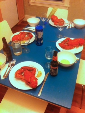 Our delicious Lobster dinner