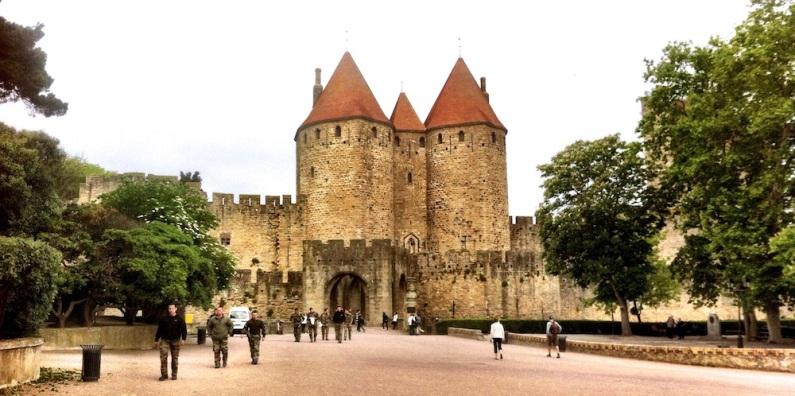 Port cullisse entrance to Ols Cite Carcassonne
